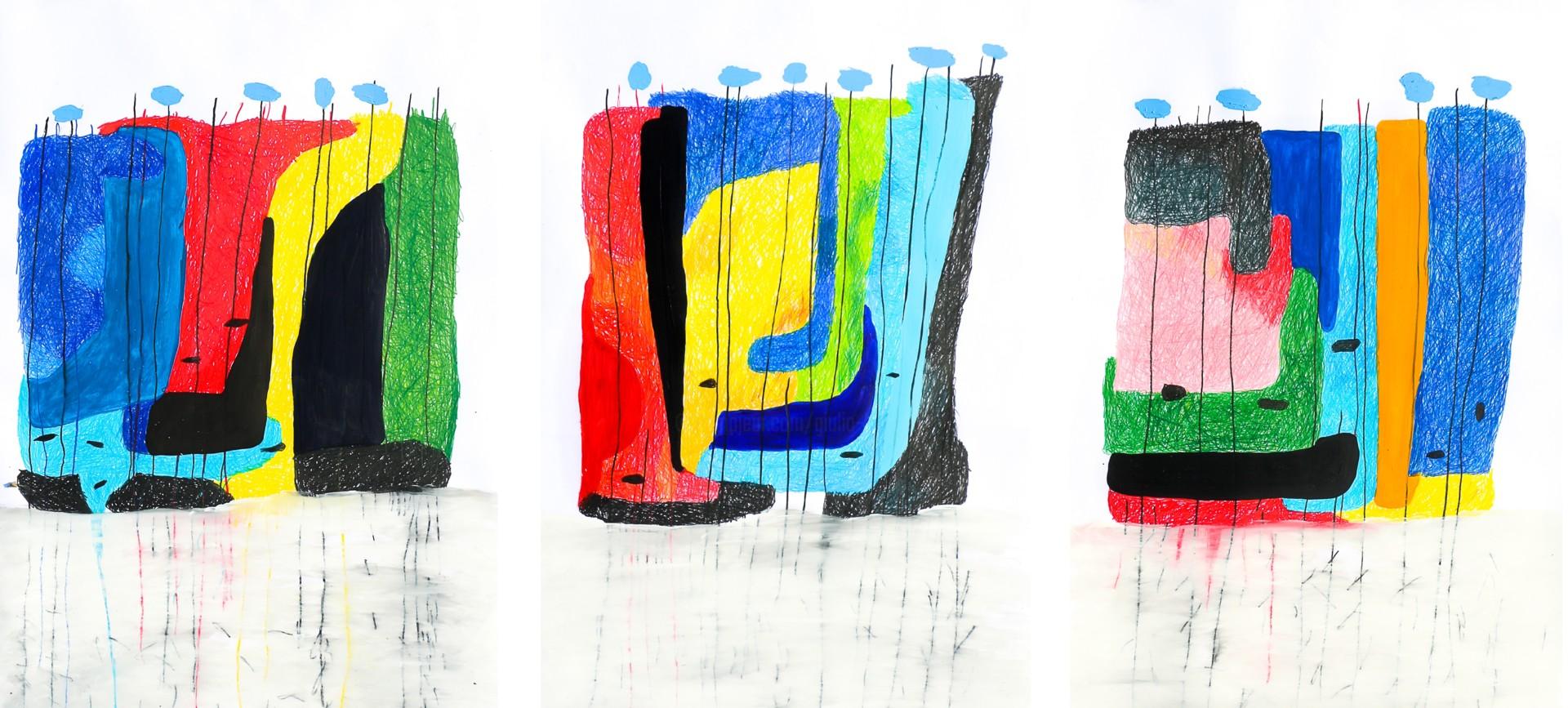 "Giulio Benatti - ""A word. A word!""   (Triptych)"