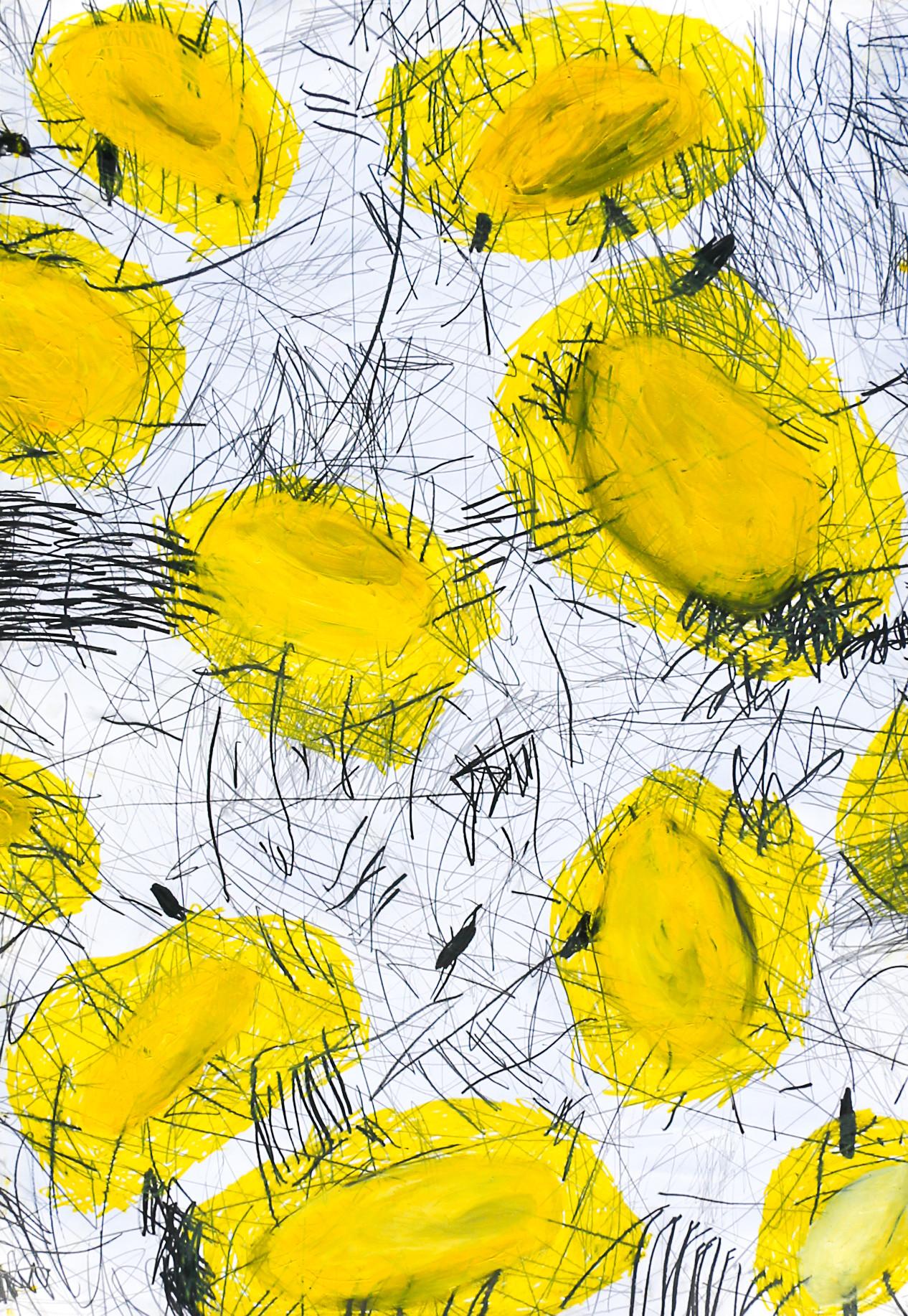 "Giulio Benatti - ""I fear the stars I don't know""  triptych detail"