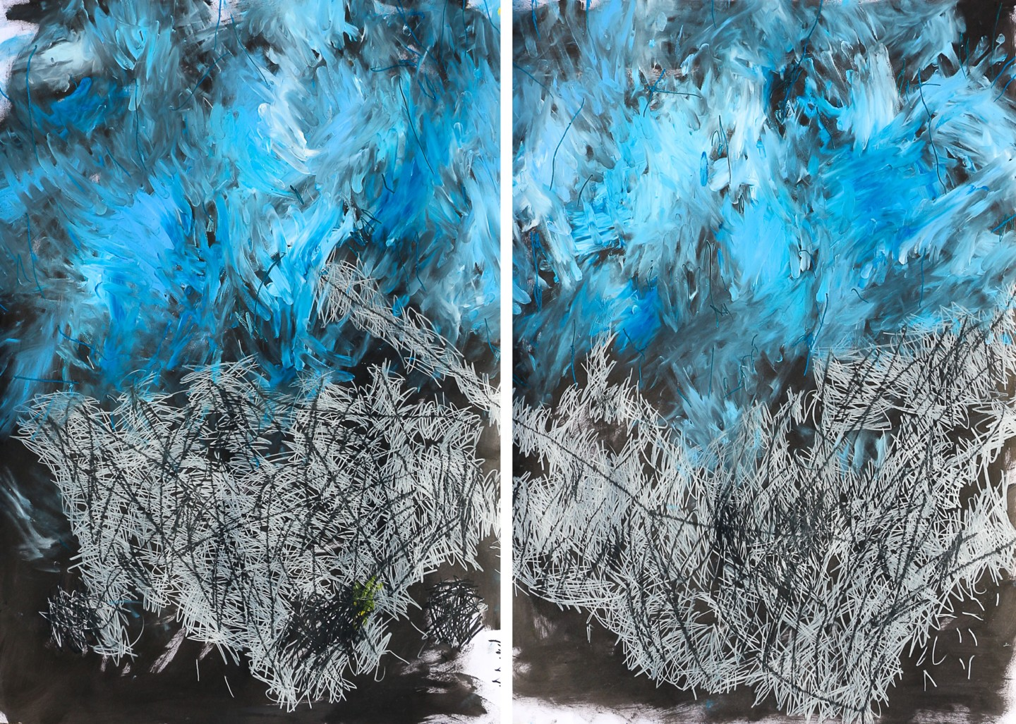 "Giulio Benatti - ""Before it's late, before it's late"" diptych"