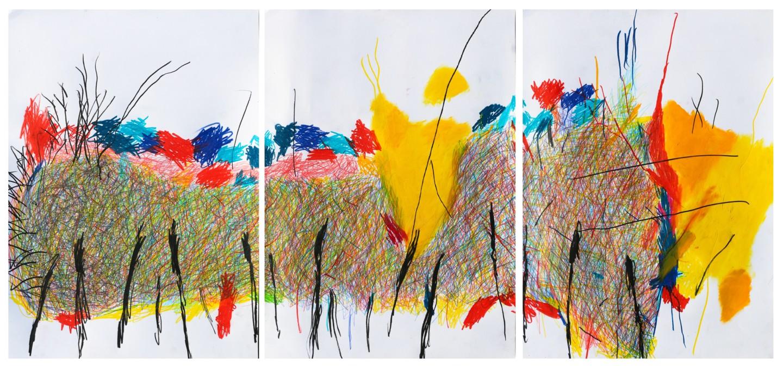 "Giulio Benatti - ""World when you cannot understand just listen"" 150x70 tript."