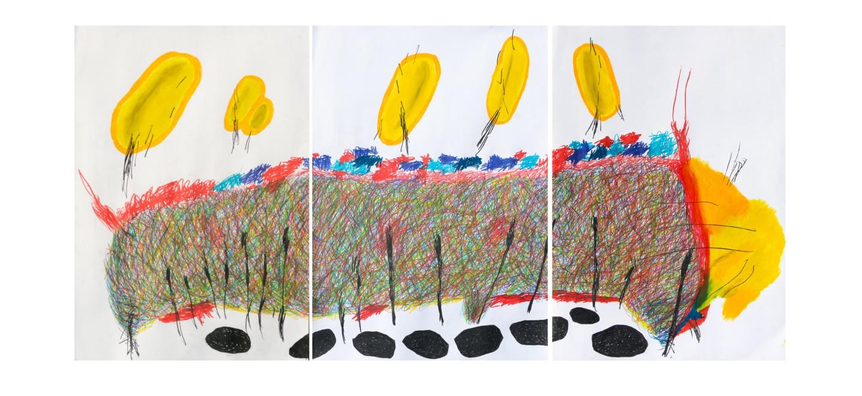 "Giulio Benatti - World when you cannot understand just listen"" tript. 210x100"