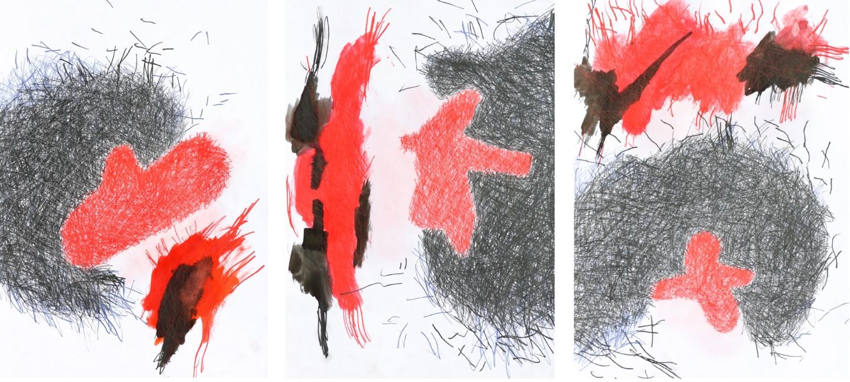 """Giulio Benatti - """"Fragments of god"""" triptych"""